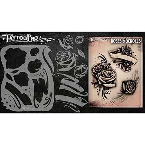 Tattoo Pro Schablonen Serie 1 - Rosen & Schriftrollen