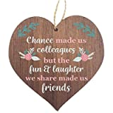 Manta Makes Chance made us Colleagues Fun and Laughter Novelty Wooden Hanging Heart Leaving Gift Plaque Work Friendship…