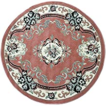 chinese garden tapis rond 120 x 120 cm color rose dys - Tapis Rond Color