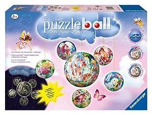 Ravensburger 11298 puzzleball® - Set de Puzzles esféricos diseño Hadas, 1 x 96 Piezas y 5 x 60 Piezas