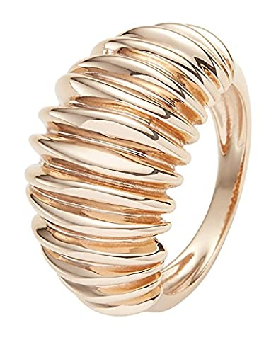 Ingenious Jewellery Sterling Silver Ring with Slit Lines - Size N RA53566/RG/7