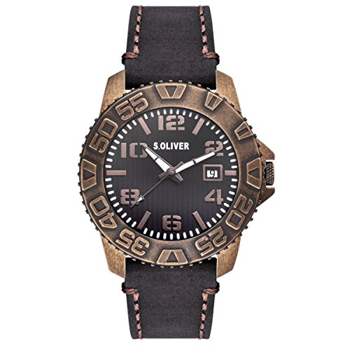 s.Oliver Men Watch brown SO-15155-LQR