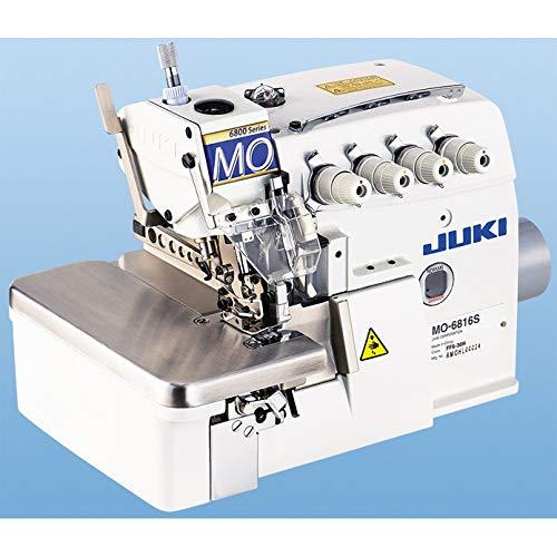 Juki MO-6816S Industrie Overlock Nähmaschine 5 Faden Servo Motor komplett mit Tisch & Gestell