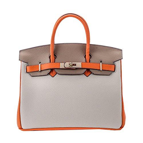 Yy.f Neue Große Platin Ledertasche Geprägte Erste Schicht Von Lederhandtaschen Mode-Taschen Taschen Von Mischfarben Schulter Diagonal Ms. Paket A