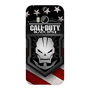 Delighted Duty Calling Back Case Cover for HTC One M8
