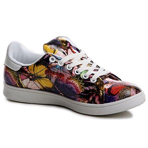 Topschuhe24 576 baskets femme chaussures de sport Violet - Violet
