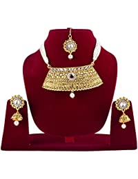 Rajasthani Kundan & Pearls Choker Necklace Set For Women / Rajasthani Jewellery Set For Bridal Jewellery Sets...