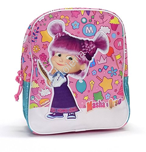 Kindergarten-Rucksack Masha und Bär Basic Pink (Office Episoden)