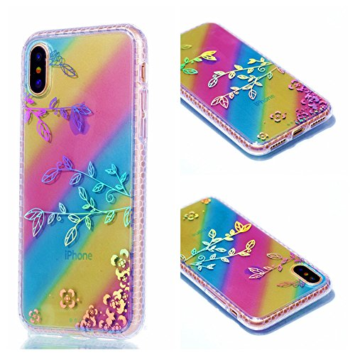 Ooboom® iPhone 8/iPhone 7 Hülle TPU Silikon Handy Tasche Bunt Luxus Case Cover Ultra Dünn für iPhone 8/iPhone 7 - Dreieck Ast
