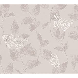 A.S. Création Vliestapete Life Tapete floral 10,05 m x 0,53 m braun metallic Made in Germany 304322 3043-22