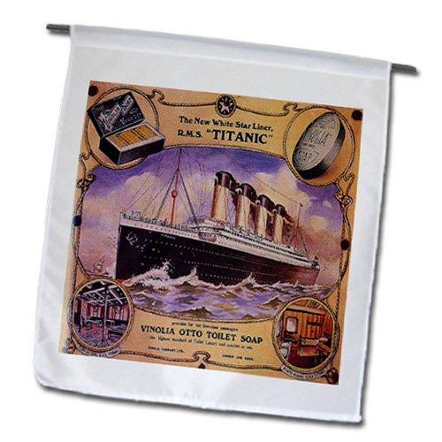 3drose FL _ 163164_ 1Bild von Rare Collage AD für die Titanic Cruise Garten Flagge, 12von 18 (Collage-foto-decken)
