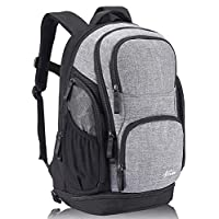 15.6 inch Laptop Backpack, Business Rucksack Lightweight Backpacks with Shoe Compartment, Travel Backpack Professional Computer Bag College Backpack for Men Women (Grey)