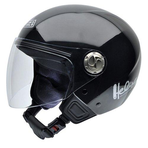 NZI 050180G003 Helix IV Motorcycle Helmet, Black, Size 58-59 (L)