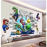 WANGJIA Muurstickers & muurschilderingen Super Mario Muurstickers voor Kinderkamer Decoratie Cartoon Game Fans Muurstickers K