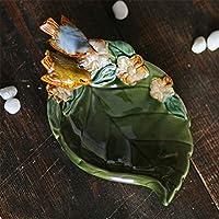 PORCN Keramik Vogel Blatt aschenbecherhaus dekor Handwerk raumdekoration Handwerk Ornament Porzellan Figur Speicher tellerdekoration