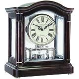 Break Arch Mantel Clock - Dark Wood - 12036