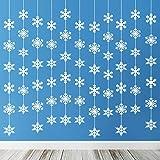 TUPARKA 12 x 1,8 Meter Winterdeko Schneeflocke Girlande Weihnachtsgirlande Schneeflocken Deko Weihnachten Deko Winter Deko Girlanden Weihnachten