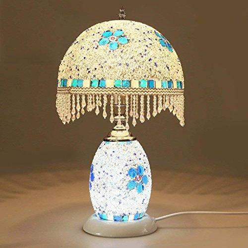 IG Mosaik Y Schreibtischlampe Schlafzimmer Nachttischlampe Farbe Glas Kreative Nachtlicht Dual-Use-dekorative Lampen