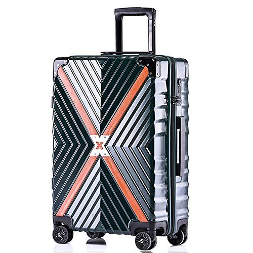 Boarding Veranstalter (YXF-Reisegepäck Trolley-Koffer - ABS/PC, TSA-Kombinationsschloss, große Kapazität, Retro-Prägetextur-Anti-Kollisions-Caster Student Boarding - 3 Farben 3 Größen optional Sliding Reisetasche)