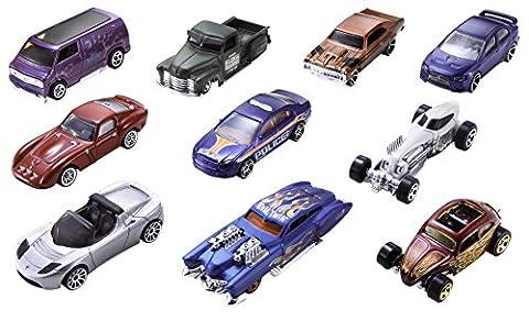 Hot Wheels - 54886 - Véhicule Miniature - Coffret 10