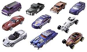 Mattel Hot Wheels 54886 10er Geschenkset, farblich sortiert