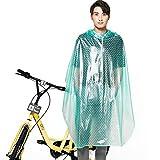 AINUO Bicicleta Impermeable Eléctrico Motocicleta Batería Coche Poncho Montar Solo Impermeable Transparente Mujer Adulto Coreano (Color : Green, tamaño : XXXL)