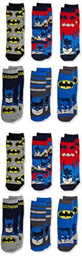 FM London Boy's Batman Socks, pack of 12