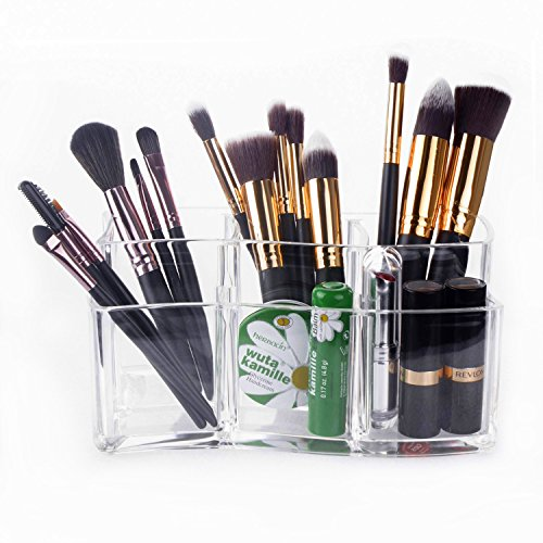 Kosmetik Organizer - Meersee Makeup-Pinsel Becher Acryl Kosmetik Aufbewahrung Kosmetikpinsel Behälter -