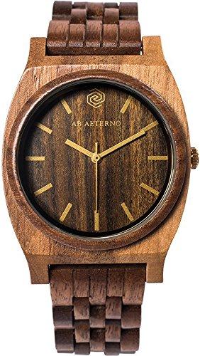 AB AETERNO Armbanduhr analog Quarzwerk Holzband 76900095
