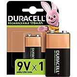 Duracell Oplaadbare 9V 170 mAh blokbatterij 6LR61, 1 stuks