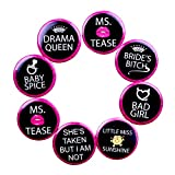 #7: Madcaps Bachelorette Badges (Set Of 8) (Black)