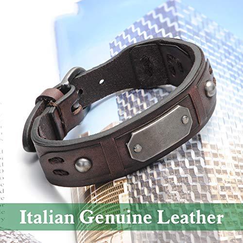 IJEWALRY Damenarmband Armbänder Armband,Elegant Fine Charm Vintage Armband Charm Brown Italienische Echtleder Armbänder Männer Armbänder Für Frauen Beste Freunde Schmuck