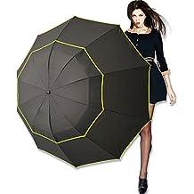 Paraguas para golf de 62Inch, resistente al viento, doble cubierta con ventilación, extra