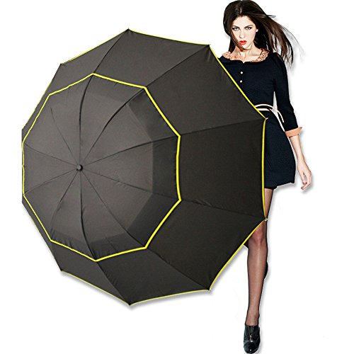 Parapluie de golf ¨¤ ouverture matique de 62 pouces extra...