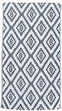 Bersuse 100% Cotone - Asciugamano Turco Zipolite - Fouta Telo Mare e Bagno - Doppio Strato - 95 x 175 cm, Blu Scuro/Azzurro