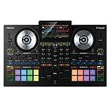"Reloop Touch - 4-Kanal DJ Controller mit 7"" Touchscreen Vollfarbdisplay für Virtual DJ 8 mit integrierter Soundkarte, Video Mixing, 16 RGB Performance Pads, Jogwheels, Fader FX Unit (schwarz)"