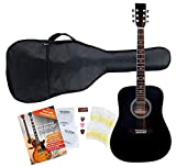 Classic Cantabile guitare acoustique folk gaucher set démarrage, kit d