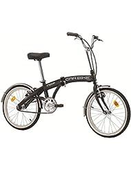 Cicli Cinzia Folding Car Bike Bicycle 20 Inch Steel Blue and White