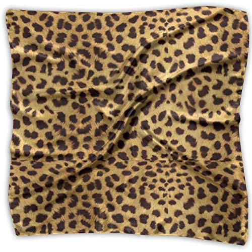Leopard Print Print 100% Silk, Silk Scarf Square, Small Handkerchief, Bandana Classic Square Scarf Small (Leopard Print Beanie)