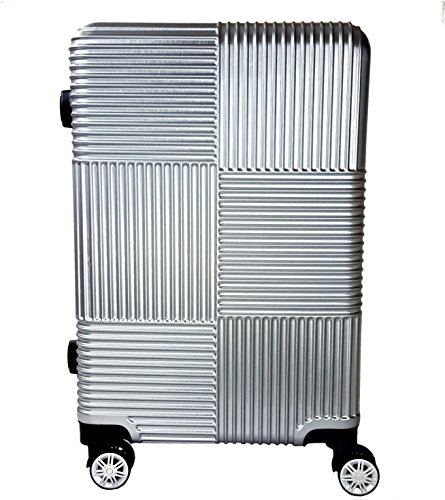 Reisekoffer Hartschale QTC Siegen Koffer XL / 78cm Reise Tasche Koffer Case (Silber)