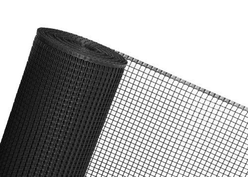 30m² rete in plastica 0,6m altezza x 50m lunghezza maglia 15mm Pollame recinzione Nero