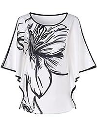 OHQ_Camisetas Mujer Vestidos Bordados con Apliques Panel De Encaje Sin Mangas Impreso Gradiente Top Chaleco Sin