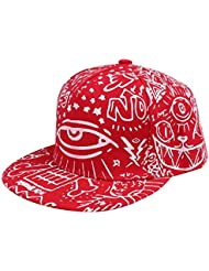 Yogogo Fashion Vintage Baseball Flat Bill Hat Hippie Eye Hip Hop Cap réglable