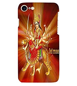 ColourCraft Maa Bhavani Design Back Case Cover for APPLE IPHONE 7