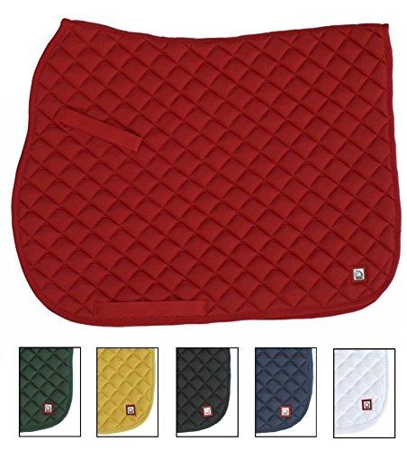 TATTINI Schabracke einfache aus 65% Baumwolle und 35% Polyester mit Armbänder verstellbar mit Klettverschluss Farbe: rot (Gesteppte Armband)