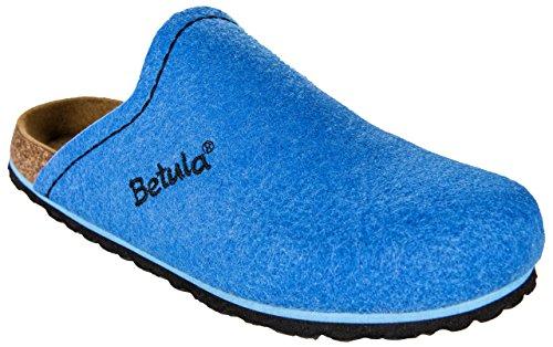 Betula House, Mules pour Femme bleu clair