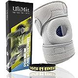 ULIMIT® Kniebandage 2.0 Kniewärmer sowie Knieschützer für Männer Sport und Damen (Silber, Einheitsgröße)