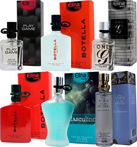 Set von 6 (sechs) Parfüm für Herren 15ml Jedes einzelne Box Spray.(Eau de Toilette)