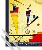 1art1 Poster + Hanger: Wassily Kandinsky Mini-Poster (50x40 cm) Fröhliche Struktur, 1926 Inklusive EIN Paar Posterleisten, Transparent