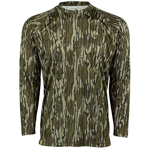 Mossy Oak Herren Camo Performance Long Sleeve Tech Hunting Shirt Langärmelig, Original Bottomland, X-Large - Mossy Oak Camouflage Kleidung